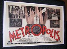Fritz Lang Metropolis 11X17 Monster Sci Fi Horror Movie Poster