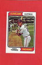1974 topps baseball # 499 Rusty Torres Cleveland Indians mint