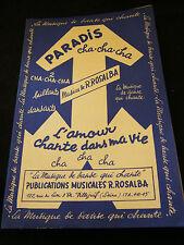 Partitura Paraíso Cha Cha Cha Rosalba L'amour chante dans ma vida Music Sheet