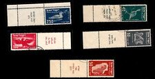 "ISRAEL STAMPS , YEAR 1950 "" FIRST AIR MAIL "" BIRDS STAMPS, FULL TABS, USED"