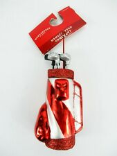 """Golf Bag & Clubs Ornament Target Xmas Holiday Wondershop 6"""" Red/White"""
