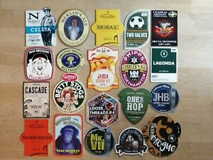 20 x PUMP CLIP BADGES FROM VARIOUS BREWERIES, JOB LOT