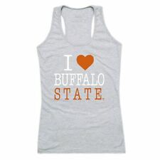 Buffalo State College Bengals Womens Love Tank Top Tee T-Shirt Heather Grey