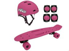 Halo Rise Above 6-Piece Slateboard Combo Set With Protective Gear Pink,Blue New�