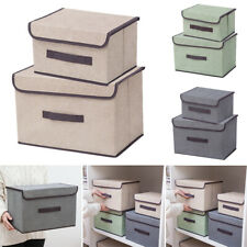 Foldable Fabric Storage Box with lid Drawer Toys/Books/Clothes Organiser Case