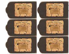6 Primitive Sheep Folk Art Hang Tags Scrapbooking, Paper Crafts