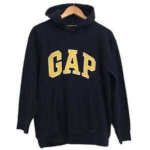 Gap Kids Spell Out Hoodie Sweatshirt XXL 14-16 Yrs Blue Hooded Fleece