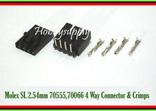 20SET MOLEX 2.54mm 2543 4 Pin Male Female Connector Crimp Pin Right Angle Header