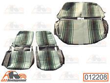Garnitures siège AVD & AVG asymétrique + banquette - NEUVES -Citroen 2cv -12208-