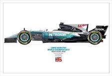2017 World Champion Champ Lewis Hamilton Mercedes-  A3 print No 1/250