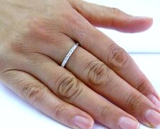 Fine Engagement Wedding Diamond Band Ring WG 14KT