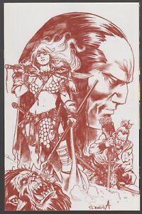 Red Sonja Birth of the She-Devil #4 Blood Red Sergio Davila Virgin 1:21 Variant