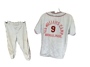 1950s-60s Ted Williams Camp Baseball Uniform Lakeville Mass Jersey Pants