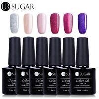 7.5ml 6 Stk UV Gel Nagellack Nail Art Soak off Gel Lack Maniküre Set UR SUGAR