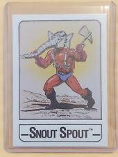 1986 MOTU (SNOUT SPOUT) WONDER BREAD He-Man Card Masters of the Universe RARE!!