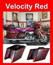 Velocity Red Stretch Saddlebag Bottom Fit 14-17 Street Electra Road Glide King