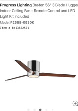 "Progress Lighting P2588-0930K - 56"" 3 Blade Indoor Ceiling Fan- LED Light"