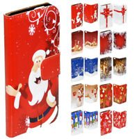 For Samsung Galaxy Series Christmas Theme Print Wallet Mobile Phone Case Cover 2