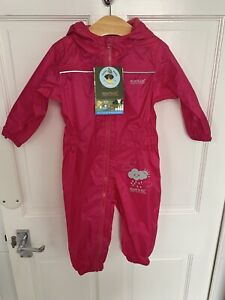 Regatta Baby / Toddler Girls Pink Puddle Suit / Waterproof Age 12 - 18 Months