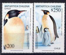 CHILE 1992 STAMP # 1582/3 MNH BIRDS PENGUINS ANTARCTICA