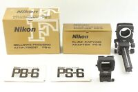 【Top Mint in Box】 Nikon Bellows PB-6 w/ Slide Copying Adapter PS-6 from JAPAN
