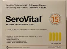 Serovital-hgh 120 Capsules  Exp: 10/21 SEALED NEW, Defy Aging and Live Younger