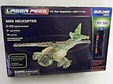 Laser Pegs Helicopter Builder Mini Light Up Model  Brand New 6+ Ages