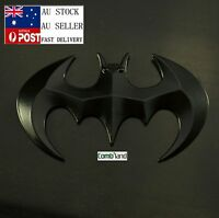 AU 3D Black Chrome Metal Batman Badge Emblem Sticker Decal For Car Phone Bike