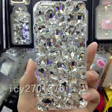 3D Jewelled Bling Crystal Gradient Rhinestone Diamond Soft cover case & strap #3