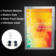 A1 Lockable Poster Frame Menu Outdoor Display Case Aluminum Black Indoor
