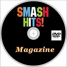 SMASH HITS Magazine 66 Issues on Dvd Rom, UK British Pop, 80's, 90's