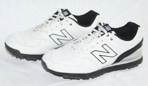 New Balance 574 White/Black Golf Shoes NBG574 Men's Size 10.5