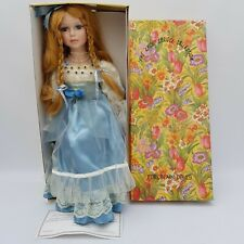 The Knightsbridge Collection Porcelain Doll 'AIMEE' Boxed w/ Certificate & Stand
