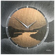 AMS 47 cuarzo de Reloj pared naturschieferuhr oficina y la Sala Estar