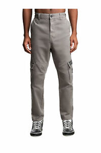 True Religion Men's Marco Cargo Pants 34 x 28 NWT Charcoal Gray Relaxed Tapered