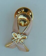 Pink Breast Cancer Awareness Pin with Butterfly Lapel Souvenir Pin