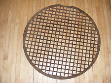 "VICTORIAN Cast Iron Floor Grille ROUND 27"" Heat Grate Register   L@@K"
