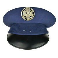VTG Bancroft Blue Military U.S. Airforce Officer Uniform Hat Cap Badge 7 3/8