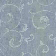 Gibby Blueberry Leafy Scroll Wallpaper with Background Stripe  CHR11666