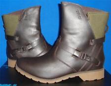 TEVA De la Vina Low Brown Waterproof Leather Canvas Boots Size US 8, EU 39 NIB