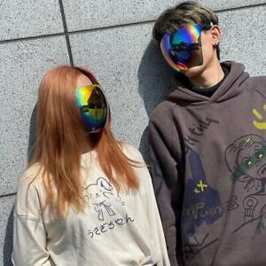Oversized Huge Big Full Face Mask Shield Polarized Large Mirror Sunglasses AUS