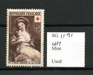 France 1953 Red Cross Fund 12f+3f Vigee-Lebrun SG1191 MNH