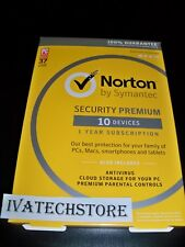Norton Security Premium with Backup 10 Devices New Sealed