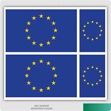 4 x European Union / EU Flag Vinyl Car Van iPad Laptop Sticker
