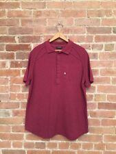 Rare Kris Van Assche Men's Polo Shirt, Heathered Maroon, Sz XL