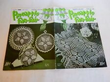 Vintage 1950 J&P Coats Pineapple Fan-Fair Crochet Pattern Book Pot Holder Doily