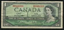 .Paper Money Canada 1954 1 dollar XL1689768