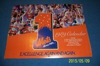 1989 NEW YORK METS Calendar/Schedule DARRYL STRAWBERRY Doc GOODEN Gary CARTER