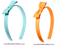 Gymboree NWT Blue Orange CHEERY ALL THE WAY FAUX LEATHER HEADBAND HAIR ACCESSORY