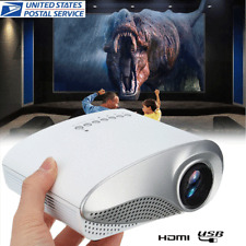 3D Portable 1080P HD LED Mini Projector Multimedia Home Theater USB VGA HDMI TV